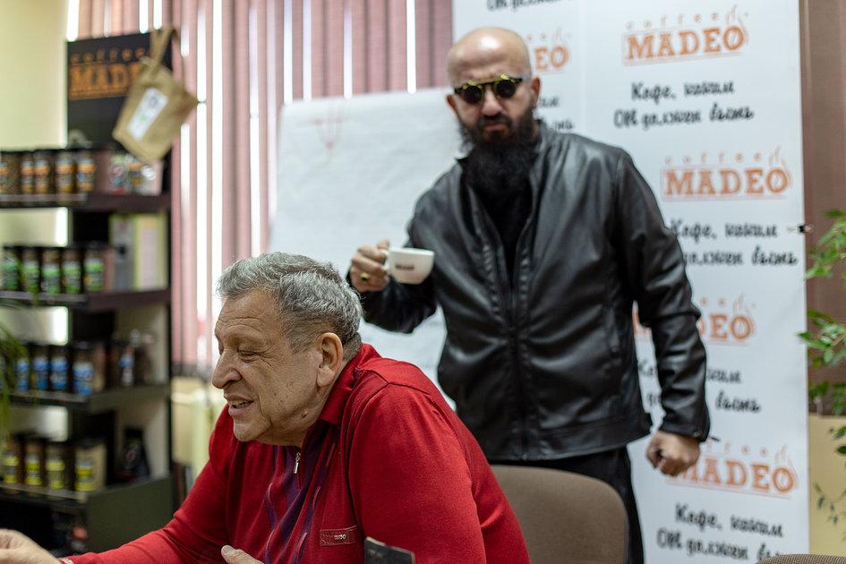 Борис Грачевский и Владимир Ферапонтов пьют только кофе MADEO