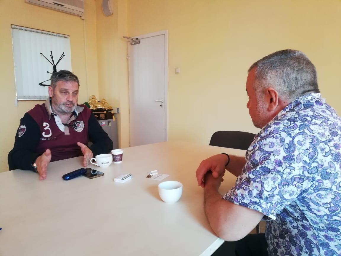 Михаил Коган и Владимир Ферапонтов на переговорах в MADEO