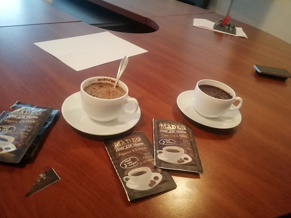 Кофе для переговоров от компании MADEO