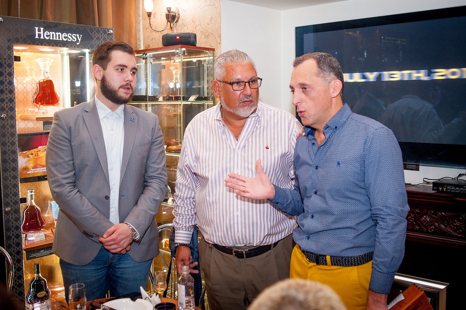 Вице-президент компании ALEC BRANDLY George Sosa в гостях в салоне салоне СИГАРЫ И ВИСКИ — 3 октября 2018 года