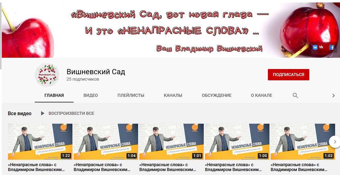 поэт Владимир Вишневский теперь и в Youtube! Подпишемся!